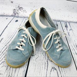Simple Sugar Blue Suede Lightweight Tennis Shoes